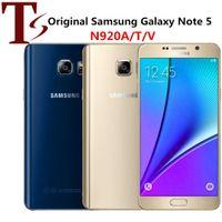 Восстановленный Оригинальный Samsung Galaxy Примечание 5 N9200 N920A N920V N920T N920P 5,7 дюйма окт сердечник 4 ГБ ОЗУ 32 ГБ ПЗУ 4G LTE телефон