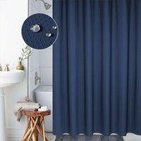 Chuveiro moderno Cortinas sólido impermeável longo Thicken melhor banheiro Cortinas Set com cortina de chuveiro Anéis