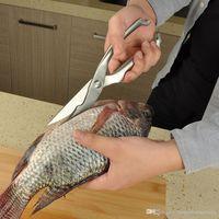 안전 잠금 용품 식품 가위 가금류 치킨 가위 금속 스테인레스 스틸 야채 샬롯 커터 물고기 스케일러 가위 BH1464 TQQ