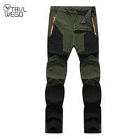 TRVLWEGO hommes d'été pantalons de randonnée résistant à l'usure rapide UV sec Pantalon résistant actif pour l'homme élastique étanche Pantalon 4XL