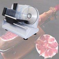 Gewerbliche elektrische Schneidemaschine Aufschnittmaschine 200W Haushalt Desktop-Lamm in Scheiben geschnitten Gemüse Brot heißen Topf Schinken Fleisch Slicer