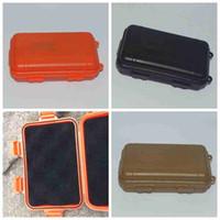 Caja de Herramientas de supervivencia al aire libre salvaje EDC Kit de prueba de golpes Caja de herramientas a prueba de polvo impermeable sellada de almacenamiento envase de la caja exterior Gadgets CYZ2572
