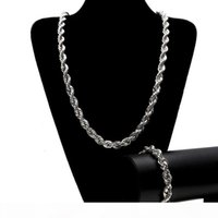 Mens Hip Hop Gold Twist Chain Necklace Fashion Gold Silver T...