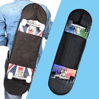 Skateboarding Skateboard Skateboard Skates Universal Rocker Duplo Backpack Longboard Durável Placa de Skate Carry Outdoor Zipper Cover Acessório