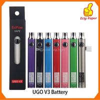 Authentische UGO V III V3 650 900mAh EVOD Ego 510 Akku 8colors Micro-USB-Lade Pass-Through vape Batterien 100% Oringinal DHL geben