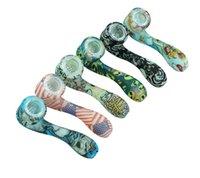 свечусь в темноте силиконовых Труб стеклянной трубке для 7 слова труба формы курения Цвета Окончательного инструмента Табак шланги Herb