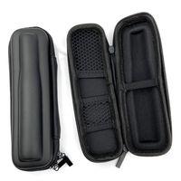 Siyah Mini İnce Kılıf Küçük EGO Deri Fermuar Çanta Vape Eletrônico Cigarette Carry