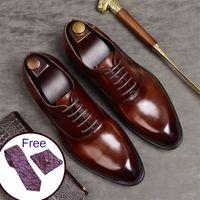 남성 이탈리아어 드레스 웨딩 끈 가죽 비즈니스 신발 CX200731에 대한 Phenkang 남성은 정장 구두 정품 가죽 옥스포드 슈즈