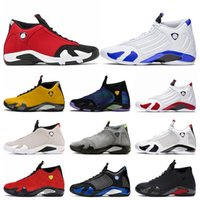 Nike Air Jordan 14 14s Jordan Retro 14 Jumpman Gym Hiper Kraliyet mens eğitmenler basketbol ayakkabıları Retro Üniversitesi altın DOERNBECHER spor ayakkabı kırmızı