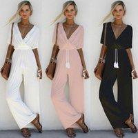 2020 лето новые одежды Дешевые Китае оптовый европейских и американских женщин Комбинезоны Sexy Взрывное кросс-Глубокий V-образный ремень Корсет Комбинезон