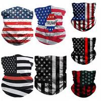 Amerikanische Flagge 3D Printing Digitale Maske Magie einen.Kreislauf.durchmachenschal Multifunktionale Magie Kopfbedeckung Turban Mode Reit Kragen Partei Masken RRA3376