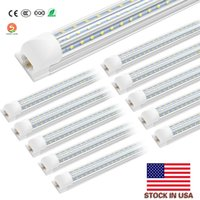 (20 PACK) White Daylight 8ft 72W 120W 12000 lumens office Led integrated T8 V shape Tube light SMD2835 US stock shop fixture tube