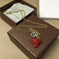 2020 Hot Selling Necklace Top Luxury Design Necklace Strawberry Shape Couple Wild Necklace Copper Jewelry Supply