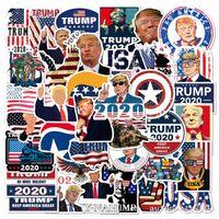 50 adet / grup DIY Trump 2020 Çıkartmalar Başkan ABD için Su Geçirmez NO-Yinelenen Sticker Kask Buzdolabı Bavul Araba Çıkartmaları Için