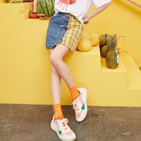 New Spring pannelli esterni donna casual plaid signore Minigonna Patchwork Magro una linea di Femme Bottoms Streetwear Gonna