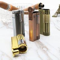 Şerit Kerosen Çakmak Benzinli Petrol Çakmak Doldurulabilir Benzin Sigara Metal Retro Erkekler Gadget'ları Değil