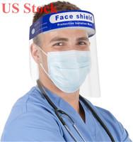 EEUU Stock transparente claro de la máscara protectora del escudo de seguridad desechable contra la niebla gorra careta de la máscara DHL envío rápido