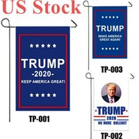 US Stock 2020 Election Trump Flag 30*45cm Presidential Election Banner Keep America Great Trump Campaign Flag DHL Shipping