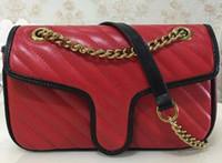 Borse borsa femminile Messenger Borsa Catena Borse a tracolla oro di nuovo stile Desig donne tracolla in pelle sacchetto dell'unità di elaborazione Portafoglio 443.497
