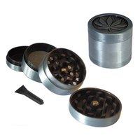 Meuble d'herbe en métal Design Autres accessoires de tabac 4 couches Tobacco Herbal Grinders Magentic avec Pollen Catcher Grattoir Gris Couleur