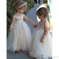 2020 Cute Ball Gown First Communion Dresses for Girls with S...