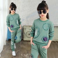 Children Clothing New Spring Teen Girls Clothes Set Sequin L...