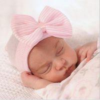 신생아 귀여운 사랑스러운 소프트 귀여운 모자 활 여자 아기 병원 비니 모자