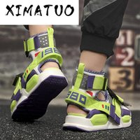 Sandals Men Summer Shoes Gladiator 2020 High Top Canvas Beac...