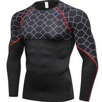 Yuerlian Top-Qualität Sport-Shirt Männer Quick Dry Herren Lauf T-Shirts Snake Gym Bekleidung Fitness Top Herren-Fußball-Jersey Rashgard