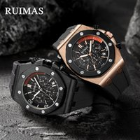 High-End Cross-Border Hot-venda Rymas Mens Watch Moda Sports Watch Multi-Function Silicone relógio de quartzo