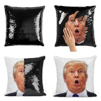 Kreative Sequin Pillowcase Trump Kissenbezug Kissen Magie Diy Pillowcase Reversible Sofa-Auto-Dekoration Kissen Bettwäsche Supplies