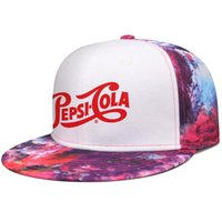 Logo Pepsi Cola Logo Unisex Flat Brim Baseball Cap Personalizzato Hip Hop Trucker Cappelli di Greenville Caps Icona di cristallo logo in CAN 3D nuova luce
