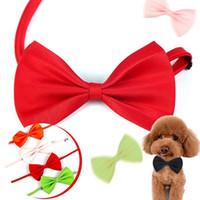Ayarlanabilir Pet Köpek Bows Kravat Boyun Aksesuar Kolye Yaka Yavru Parlak Renk Pet Yaylar Köpek Giyim Pet Malzemeleri Karışık Renkler IIA277