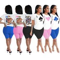 Mujeres diseñadores Ropa 2021 Trajes de chándal de verano Pantalones cortos de dos piezas Conjunto de ropa Tallas grandes Biker DHL