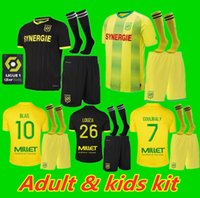 Kit enfants adultes 20 21 FC Nantes domicile maillot de foot 2020 2021 SIMON Maillot LOUZA A TOURE BLAS COCO COULIBALY chemises de football