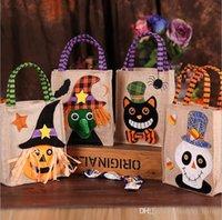 Streghe Nuovo zucca di Halloween Gift Candy Bag Cookie Gift Bag Trattare o Dolcetto regalo della caramella del sacchetto di immagazzinaggio dei rifornimenti del partito 216