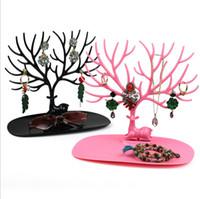 Joyas destacan los ciervos de la joyería soporte de exhibición del sostenedor de la exhibición de la joyería de la decoración del árbol de almacenamiento Bastidores colgante pendientes del collar