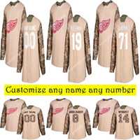 Camo Veterans Day Practice Detroit Red Wings jerseys 13 Pave...