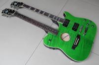 Оптовая гитара нового прибытия Guild Модель Double Neck электрическая акустическая гитара самого лучшего качества в зеленом Выброс 120528