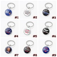 Trump Keychain Trump 2020 Election Supplies Accessories Donald Trump Keep America Great Time Gem Keychains Pendant Party Favor CCA12381