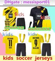 2020/21 Dortmund Home Yellow Soccer Jersey 20 21 # 7 Sancho # 11 REUS Kids Kit + Socken Fußball Hemd Set