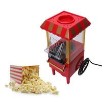 AB Faydalı Vintage Retro Elektrikli Popcorn Popper Makinesi Ev Partisi Aracı AB Tak DIY Mısır Popper Çocuk Hediye Sıcak Hava