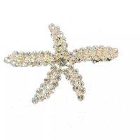 2020 nuevo de la manera Diseño estrellas de mar Jeweled los pernos de pelo era lleno Adorned falso perlas o diamantes de imitación al por mayor 12pcs / lot