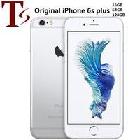 Reformado Original Apple iPhone 6S mais 5,5 polegadas com impressão digital iOS A9 chipset 16/32/64 / 128GB ROM 12MP desbloqueado celular