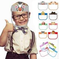 US Warehouse Bonito Esponja Esponja Crianças Protetora Face Mask Kawaii Animal Animal Crianças Crianças Full Face Shield Capas para Meninos Grils