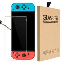 net temperli cam Ekran Koruyucu Film için Nintendo Anahtarı Koruyucu Film Kapak için Nintendo Perakende kutusu Lite Anahtar