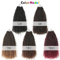 22 Inch Boho box braids Box Braids Crotchet Hair with Curls ...