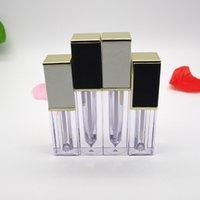Depolama Şişeleri Kavanozlar 10/30 / 50 adet 4 ml / 4.5 ML Boş Dudak Parlatıcısı Tüp DIY Plastik Zarif Sıvı Ruj Konteyner Kare Lipgloss Şişesi