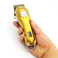 KM-1986 Парикмахерская Professional Chipper для волос Maquina de Cortar Pelo Electric Cornless LCD Триммер для волос Золотая Серебряная Режущая машина