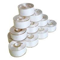 Herramientas de nociones de costura 144 PCS Bobinas de preferencia blanca para máquinas de bordado Tamaño de la clase 15 Plastic Sided Buen hermano, Babylock, Mach